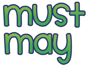 """""""Must"""" and """"May"""" Signs"""