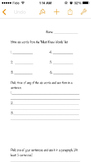 Must know words worksheet