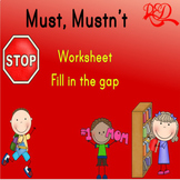 Must, or Mustn't? A Simple Worksheet to teach the usages o