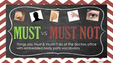 Must vs Must Not Modal Verbs, Elementary Grammar,  English ESL