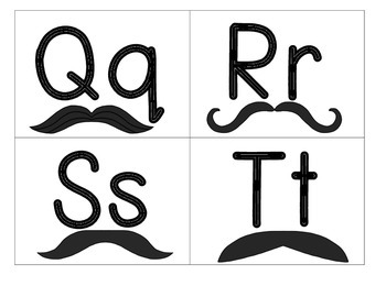 Mustache ABC Cards