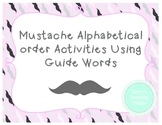 Mustache ABC Order Using Guide Words