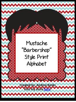 Mustache Alphabet in Print
