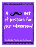 Mustache Ask a Question Poster