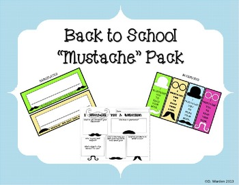 """""""Mustache"""" Back to School Pack"""