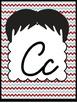 "Mustache ""Barbershop"" Cursive Alphabet Cards"