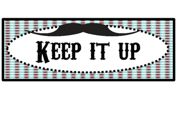 """Mustache"" Behavior Chart"