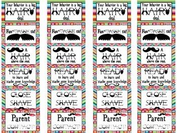 Mustache Behavior Chart: Your Behavior is a Big, Hairy Deal