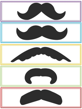 Printable Mustache Bookmarks (End of Year Gift)