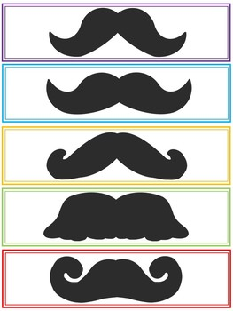 photograph relating to Printable Mustache named Printable Mustache Bookmarks (Close of Yr or Starting off of 12 months Reward)