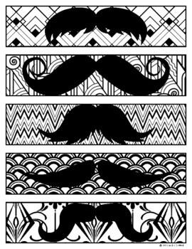 Mustache Bookmarks - I Mustache You to Read Across America!