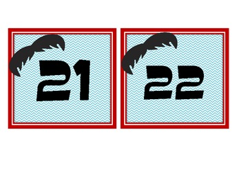 Mustache Calendar Numbers