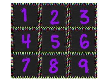 Mustache Calendar Set in Neon