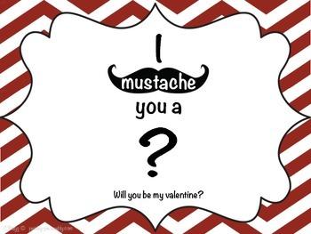 FREEBIE: Mustache/ Chevron Valentines