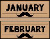 Mustache Classroom Theme Bundle