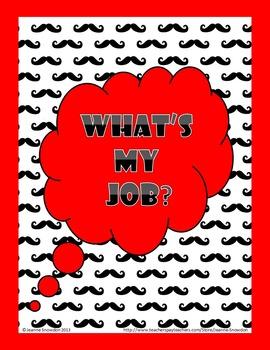 Mustache Classroom Jobs Chart