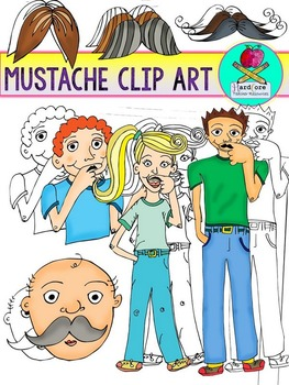 Mustache Clip Art {Mustache Mania ClipArt} I Mustache You To Check These Out!