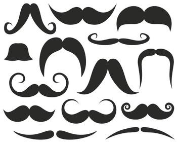 Mustache Clip Art, Photo Booth Printabl Props