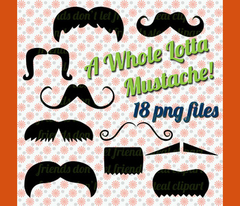 Mustache Clip Art, assorted mustaches, png