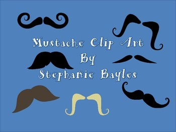 Mustache Clip Art for Use in Both Personal or Commercial Product Designs