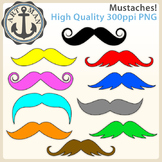 Mustache Clipart {Anchor Art Man