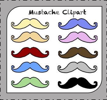 Mustache Clipart / Beard Clipart / Father's Day Clipart