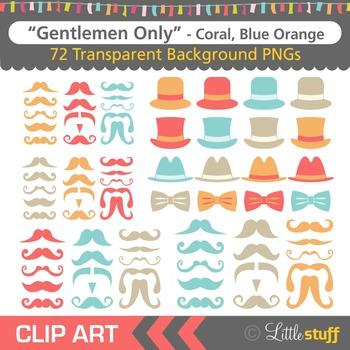 Mustache Clipart, Moustache Clip Art, Hats and Bowties