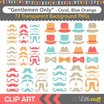 Mustache Clipart, Moustache Clip Art, Hats and Bowties