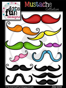 Mustache Collection ~Dots of Fun Designs~