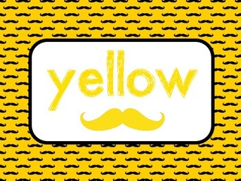 Mustache Color Posters