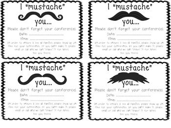 Mustache Conference Reminder Freebie
