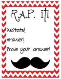 Mustache Constructed Response posters R.A.P