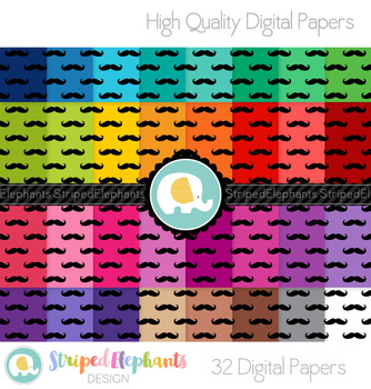 Mustache Digital Papers