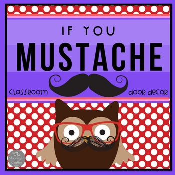 Mustache Door Decor