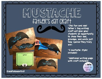Mustache Father's Day Writing Craft