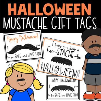 Mustache Gift Tag Halloween Freebie
