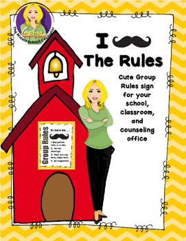 """Mustache"" Group Rules Poster"
