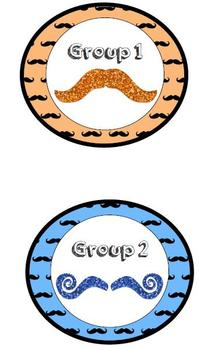 Mustache Guided Reading Clip Chart