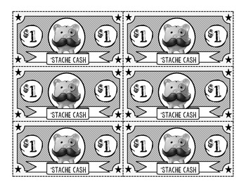 Mustache Incentive Cash-B&W Only