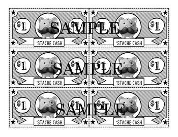 Mustache Incentive Reward Cash-Color and B&W Versions