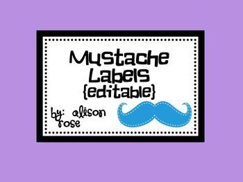 Mustache Labels editable