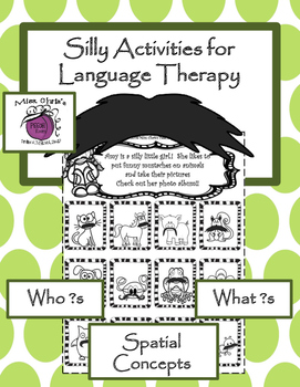 Mustache Language Therapy - Fun Silly Therapy Activities W