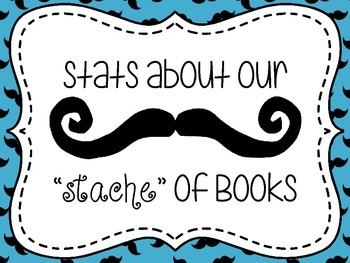 Mustache  Library/Media Center Stats Mini Bulletin Board Set
