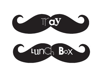 Mustache Lunch Count Signs