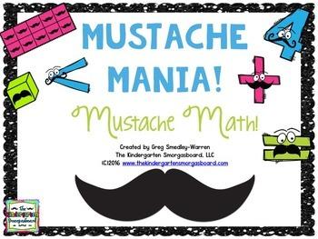 Mustache Math!  Mustache Mania:  A Mustache Math Creation