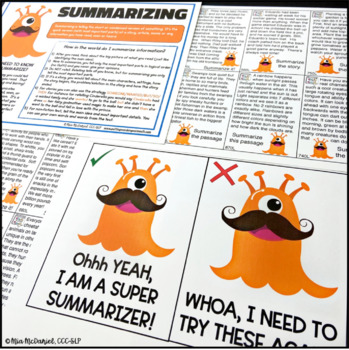 Mustache Monsters Reading Comprehension & Language {non-fiction & CCSS aligned}