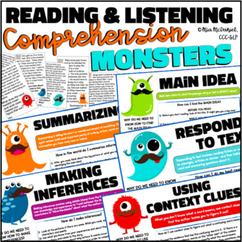 Reading & Language Comprehension {88 short, nonfiction, skill specific passages}