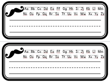 Mustache Name Plates - Mustache Classroom Theme