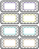 Mustache Name Tags or Labels