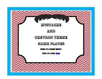 Mustache Nameplates